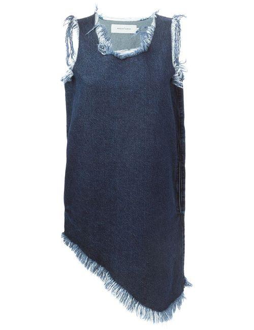 Marques Almeida | Женское Синее Асимметричное Джинсовое Платье