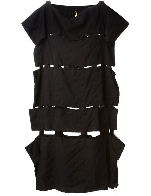 Comme Des Garcons | Женское Чёрное Платье С Панельным Дизайном