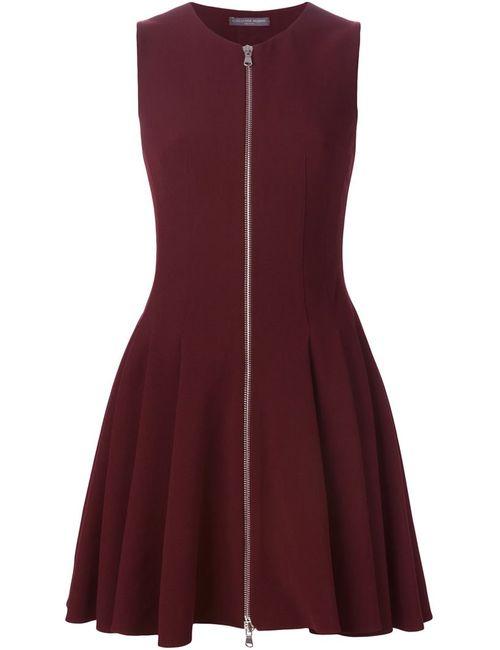 Alexander McQueen | Женское Красное Плиссированное Короткое Платье