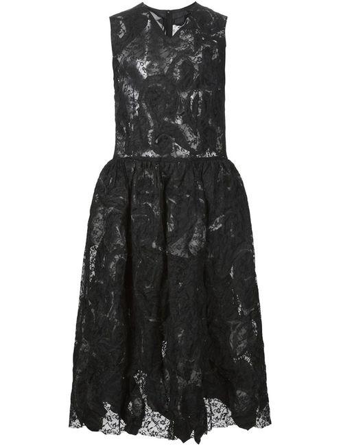 COMME DES GARCONS COMME DES GARCONS | Женское Чёрное Кружевное Платье С Расклешенной Юбкой