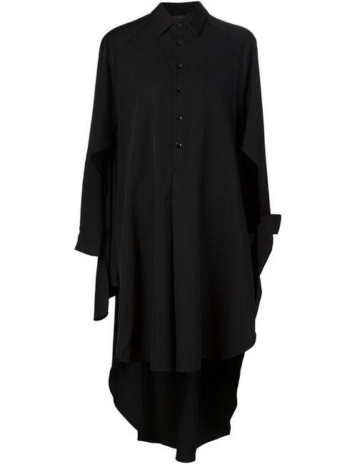 Yohji Yamamoto | Женское Черный Асимметричное Платье-Рубашка