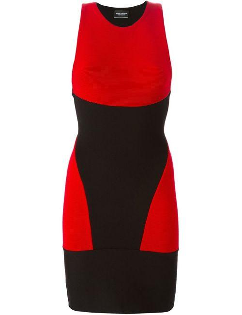 MARCELO BURLON COUNTY OF MILAN | Женское Чёрное Облегающее Платье С Панельным Дизайном