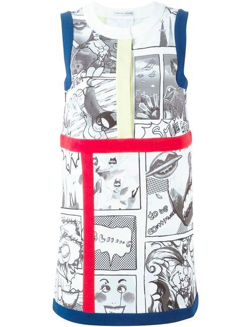 Tsumori Chisato | Женское Серое Платье Шифт С Принтом