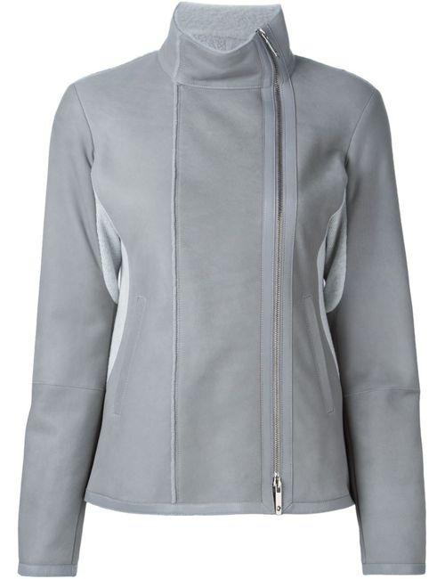 CALLENS | Женская Серая Куртка На Молнии С Воротником-Хомутом