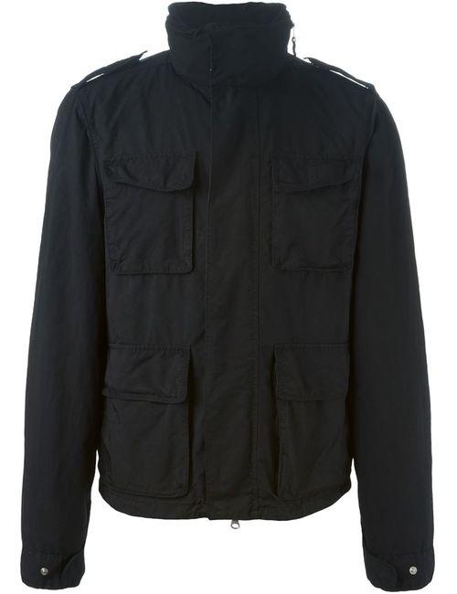Aspesi | Мужская Чёрная Куртка-Ветровка На Молнии