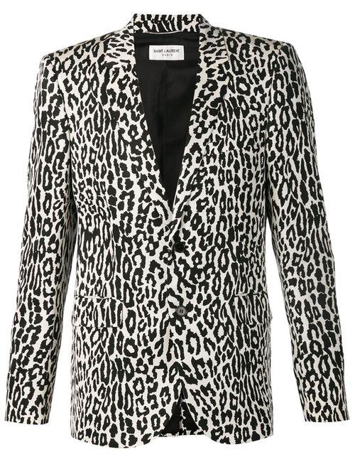 Saint Laurent | Мужское Чёрный Leopard Print Blazer