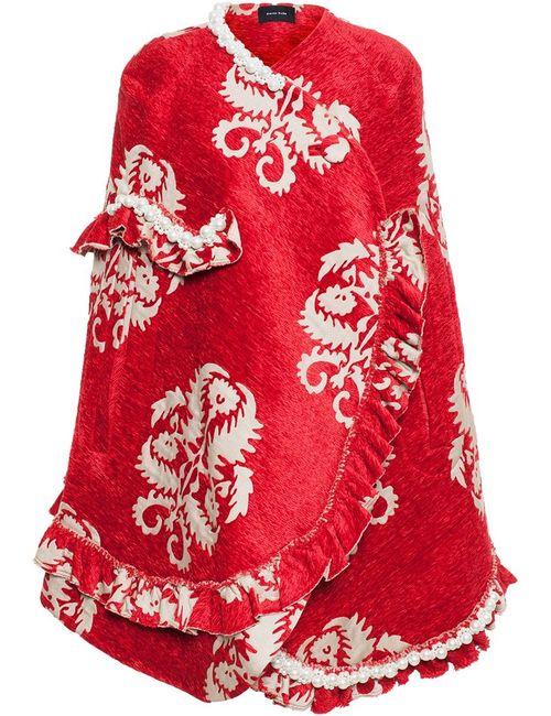 Simone Rocha   Женское Красный Embellished Tapestry Cape
