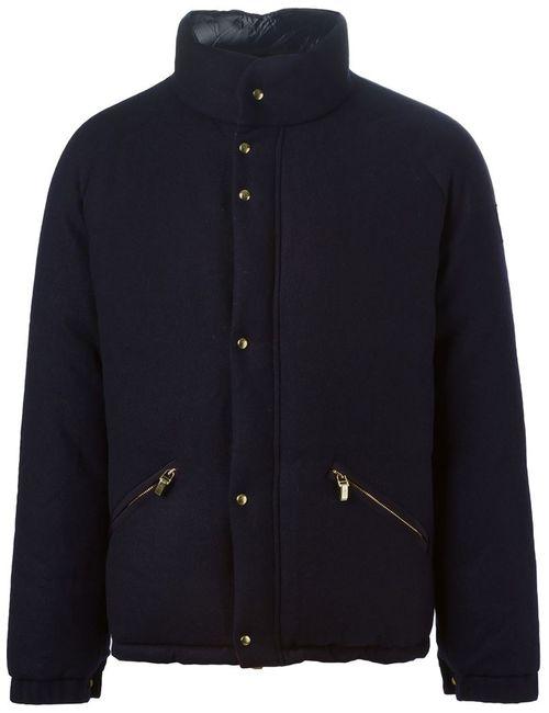 Moncler Gamme Bleu | Мужская Синяя Дутая Куртка С Воротником-Стойкой