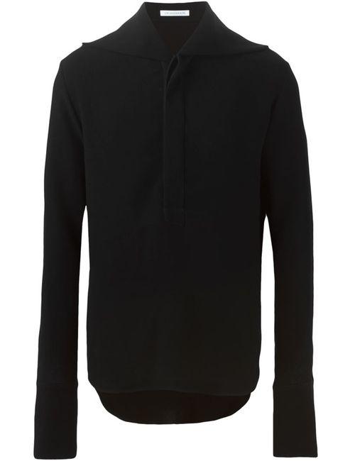 J.W. Anderson | Мужская Чёрная Рубашка С Удлиненными Рукавами