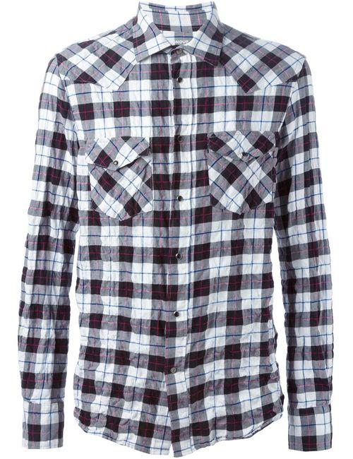 Dondup | Мужская Белая Рубашка В Клетку