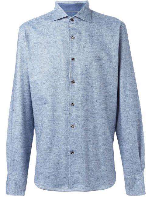 Corneliani | Мужская Синяя Пестрая Рубашка