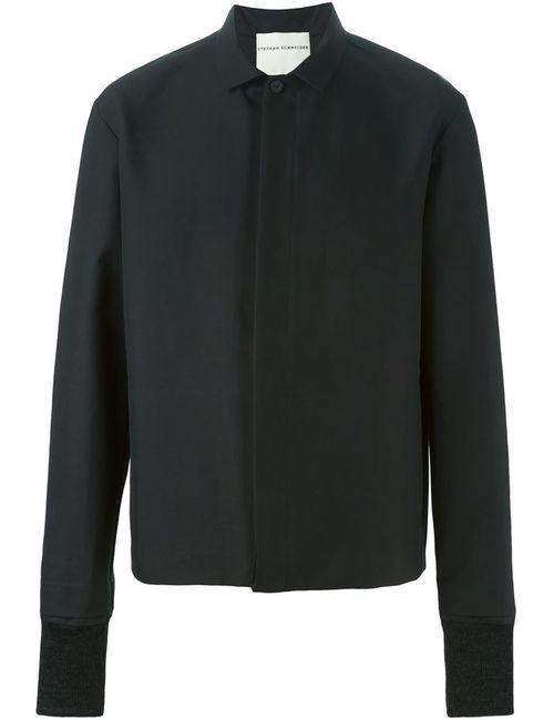 Stephan Schneider | Мужская Чёрная Рубашка С Контрастными Манжетами