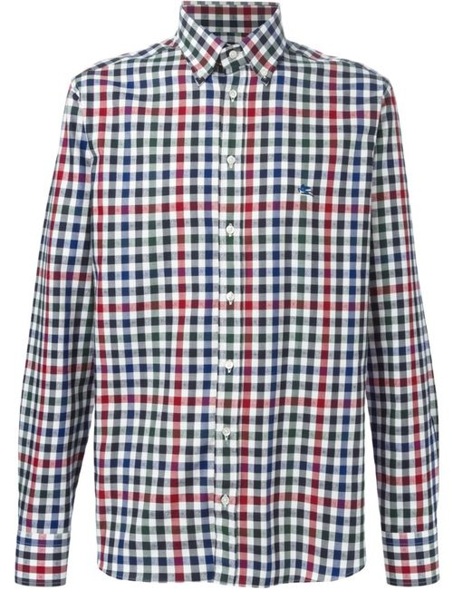 Etro | Мужское Белый Checked Shirt
