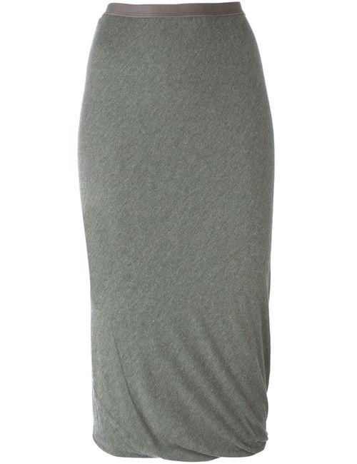 Rick Owens Lilies   Женское Серый Draped Tube Skirt