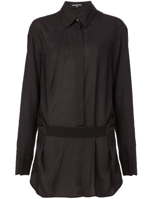 Ann Demeulemeester | Женская Черный Драпированная Рубашка С Поясом