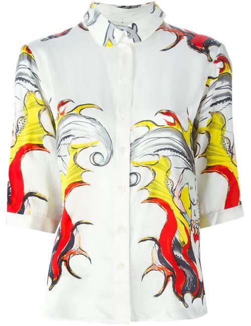 Tsumori Chisato | Женская Белая Рубашка С Принтом
