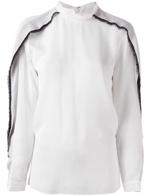 3.1 Phillip Lim | Женская Белая Блузка С Контрастными Деталями