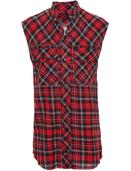 Filles A Papa | Женское Красный Sleeveless Checked Shirt
