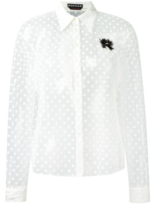 Rochas | Женское Sheer Polka Dot Shirt
