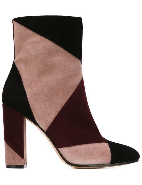Gianvito Rossi | Женские Чёрные Ботинки С Панельным Дизайном