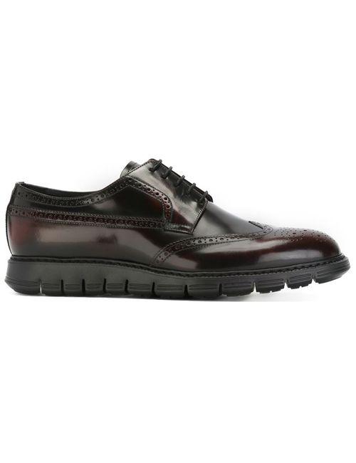 Emporio Armani | Мужские Красные Туфли Броги