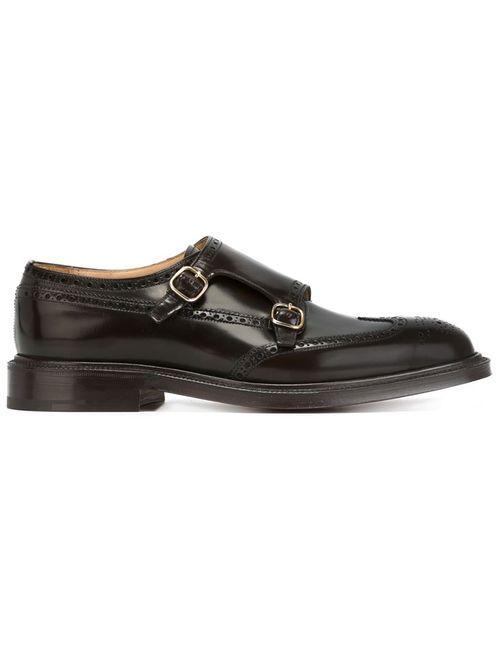 Church'S | Мужские Коричневые Туфли-Броги С Ремешками На Пряжках