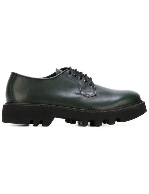Leather Crown | Мужские Зелёные Туфли На Ребристой Подошве