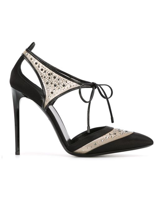 Giorgio Armani | Женские Чёрные Декорированные Кристаллами Лодочки