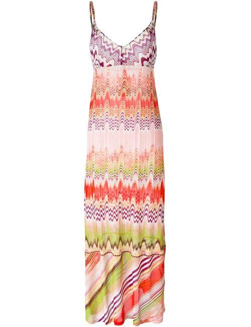 Missoni | Женское Розовое Вязаное Платье С Принтом