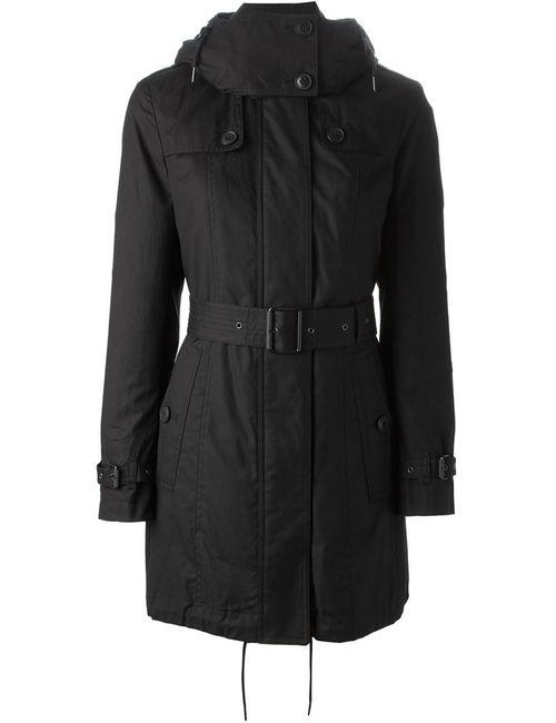 Burberry Brit   Женское Черный Belted Hooded Coat