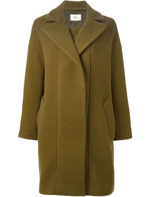 Folk | Женское Зелёное Пальто Hepburn