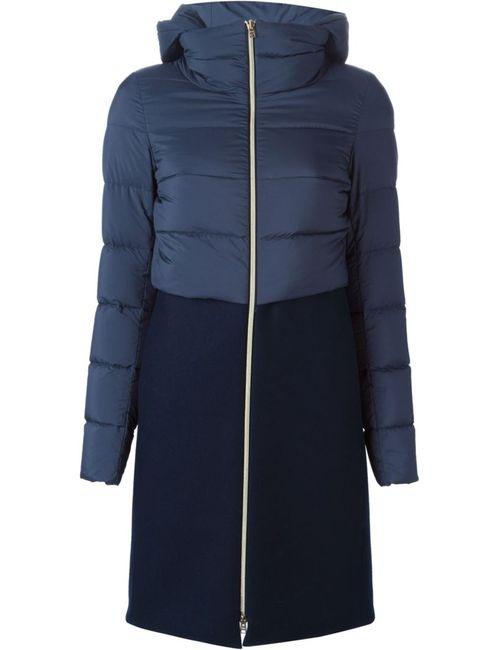 Herno | Женская Синяя Куртка С Дутой Вставкой
