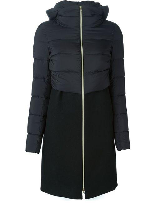 Herno | Женская Черный Куртка С Дутой Вставкой