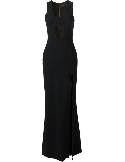 David Koma | Женское Чёрное Платье В Глубоким Вырезом