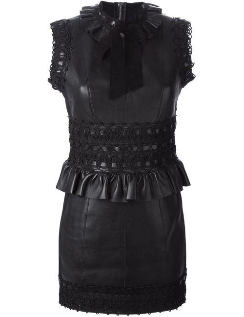 Dsquared2 | Женское Черный Платье Мини С Баской
