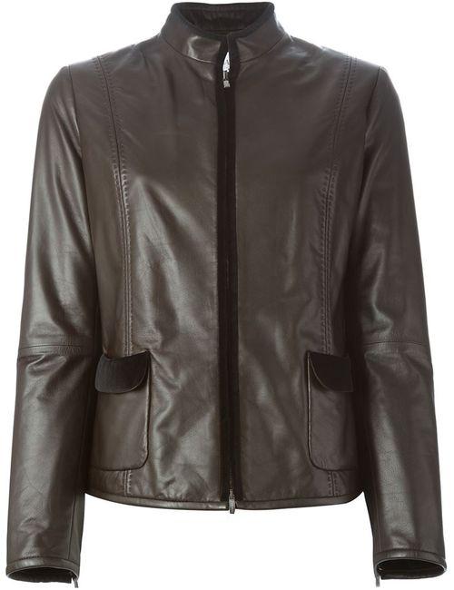 Armani Collezioni | Женская Коричневая Приталенная Куртка
