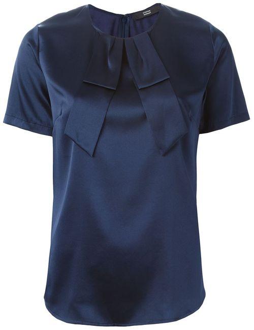 Steffen Schraut | Женская Синяя Блузка С Бантом