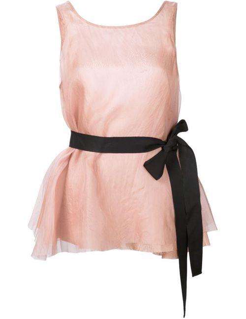 LOUIZA BABOURYAN | Женское Розовый Belted Tank