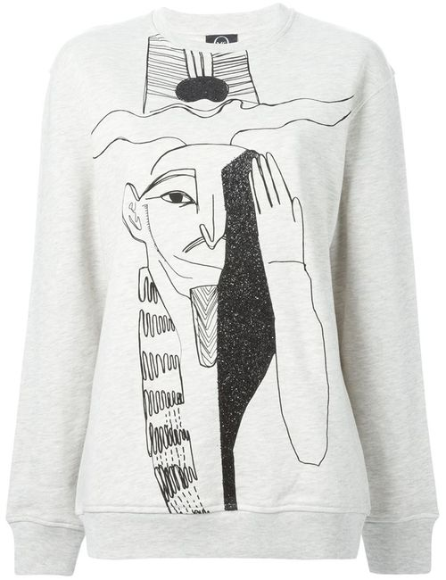 Mcq Alexander Mcqueen | Женское Egyptian Illustration Print Sweatshirt