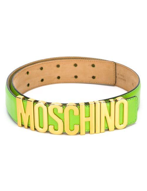 Moschino   Женский Зелёный Ремень С Логотипом