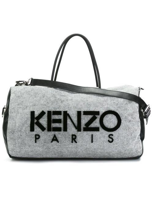 Kenzo | Женская Серая Спортивная Сумка Kanvas