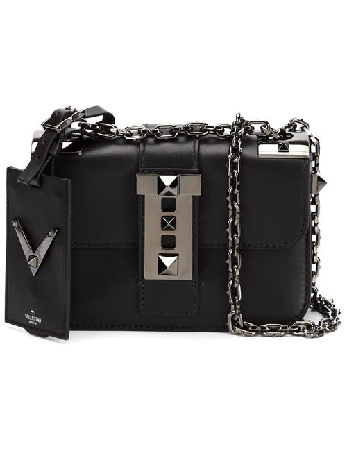 Valentino Garavani | Женская Чёрная Маленькая Сумка Через Плечо B-Rockstud
