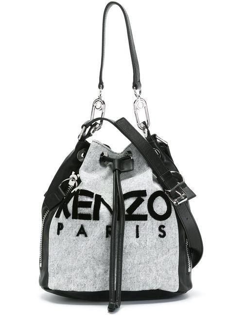 Kenzo | Женская Серая Сумка-Мешок Kanvas