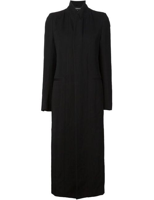 Ann Demeulemeester | Женское Черный Удлиненное Пальто С Воротником-Стойкой