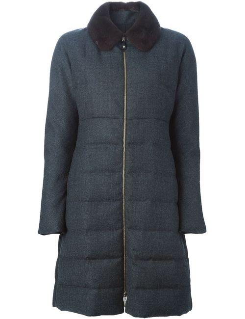 Moncler Gamme Rouge | Женское Серое Дутое Пальто На Молнии