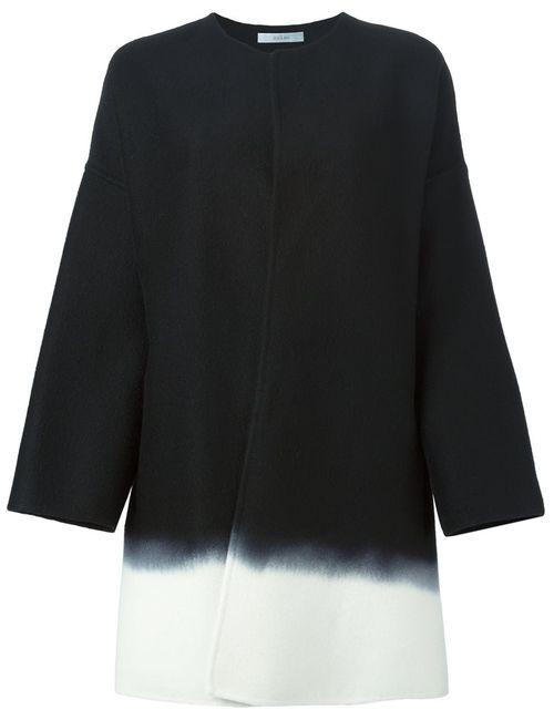 DUSAN | Женское Чёрное Пальто С Эффектом Градиент
