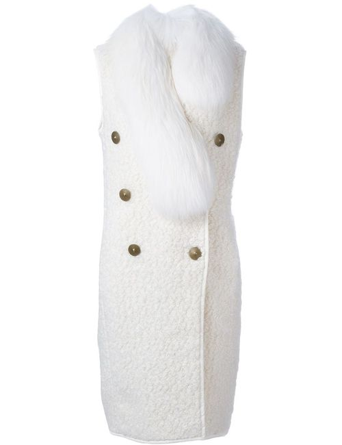 Vionnet | Женское Белое Пальто Без Рукавов