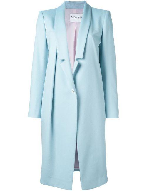 Vionnet | Женское Синее Однобортное Пальто