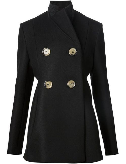 Victoria Beckham | Женское Чёрное Двубортное Пальто