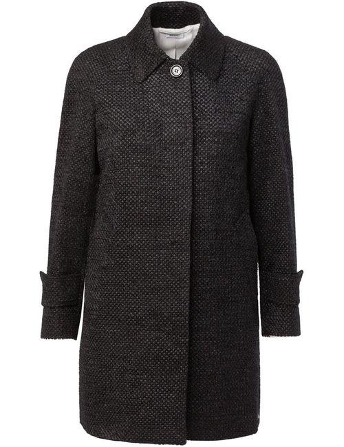 Thom Browne | Женское Чёрное Твидовое Пальто
